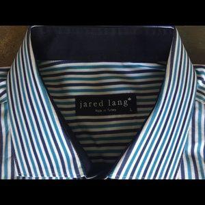 Jared Lang Other Jared Lang Dress Shirt Large Flip Cuffs Blue